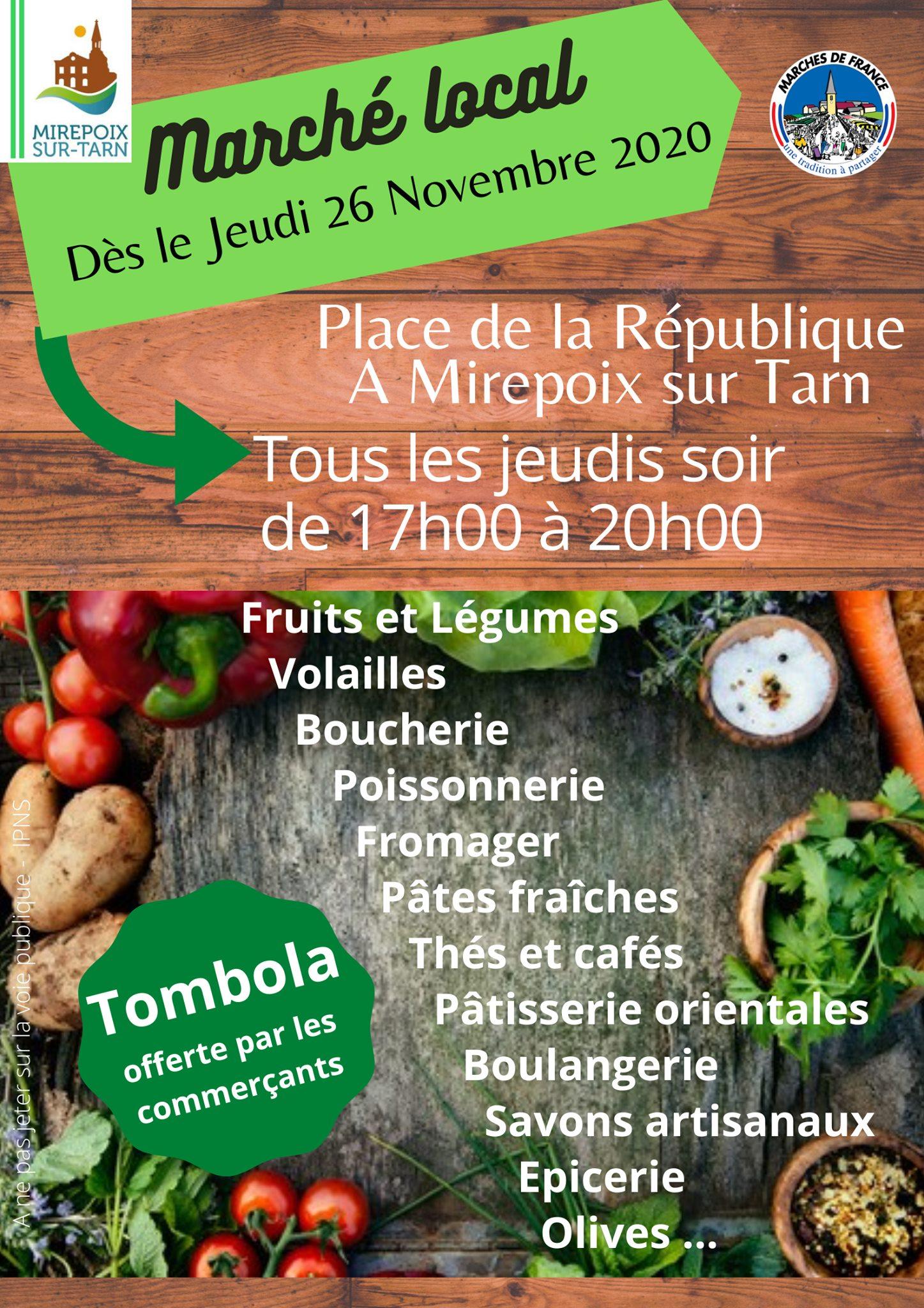 Marché local Mirepoix-sur-Tarn